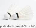 Shuttlecock on white 42685345