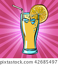 Yellow beverage juice Lemonade with lemon 42685497