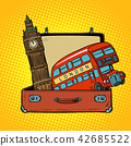 Travel to England concept. Suitcase with London sights 42685522