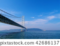 【Hyogo Prefecture · Tourist Attraction】 Akashi Kaikyo Bridge Copy Space 42686137