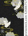 일본식 디자인 배경 이미지 42686757