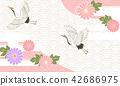 일본식 디자인 배경 이미지 42686975