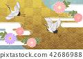일본식 디자인 배경 이미지 42686988