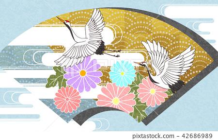 일본식 디자인 배경 이미지 42686989