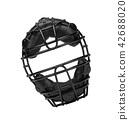 Baseball mask isolated on white 42688020