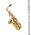 saxophone isolated under the white background 42688249