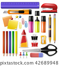 stationery, vector, pencil 42689948