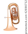 Golden french horn 42690732