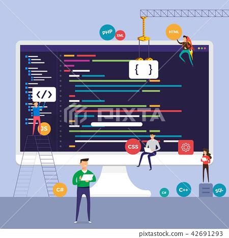 Illustration flat design concept technology 42691293