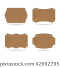 Set of leather tag on white background 42692795