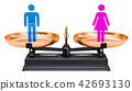 Equality of men and women. Balance concept 42693130