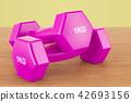 dumbbells, 3d, fitness 42693156