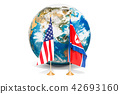Meeting concept. North Korea and United States 42693160