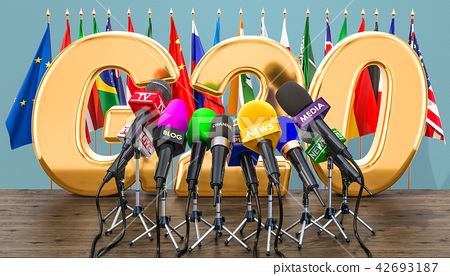 G20 meeting, press conference concept 42693187