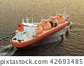 Gas carrier, gas tanker sailing in ocean 42693485