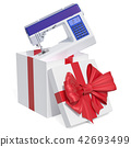 Gift concept, modern electronic sewing machine 42693499