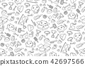 Seamless pattern background Cat and equipment kids 42697566