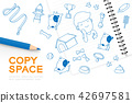 Notebook with kid boy hand drawing set, Imagine 42697581