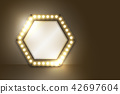 Mirror with Incandescent light bulb box frame 42697604