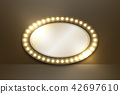 Mirror with Incandescent light bulb box frame 42697610