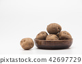 Raw potatoes isolate 42697729