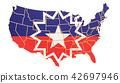 flag, USA, map 42697946