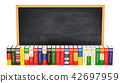 Languages books with blackboard, 3D rendering 42697959