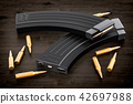 Magazine from assault rifle and bullets 42697988