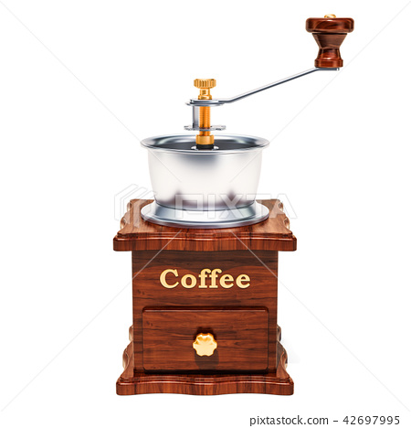 Manual coffee grinder, 3D rendering 42697995