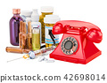 Medical service concept, phone with drugs 42698014