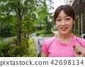 跑步女士 42698134