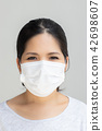 woman with face mask 42698607