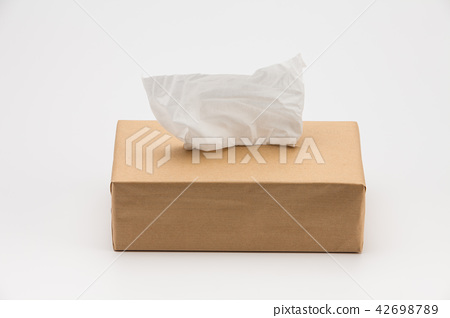 Tissues paper Box with one sticking from the top  42698789