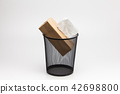 Tissue box and Metal trash bin  42698800
