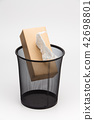 Tissue box and Metal trash bin  42698801