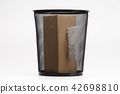 Tissue box and Metal trash bin  42698810