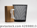 Tissue box and Metal trash bin  42698813
