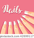 Acrylic nail shapes set.  42699117