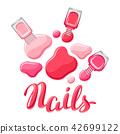 nail, polish, vector 42699122