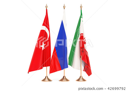 Russia, Turkey and Iran meeting concept 42699792