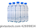 Set of water bottles, 3D rendering 42699834