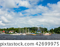 View over the river Warnow in Rostock, Germany 42699975