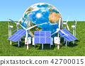 Renewable energy concept. Solar panels 42700015