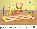 Wooden bead maze, educational toy 42700108