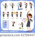 flat type Gray suit business women_complex 42700447