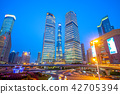 night view of Lujiazui District at shanghai, china 42705394