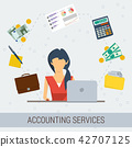 accounting, services, flat 42707125