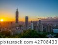 Panoramic view of Taipei City 42708433