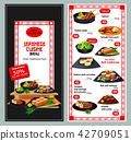Japanese or asian cuisine restaurant menu template 42709051