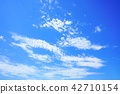 하늘 푸른 하늘 구름 42710154